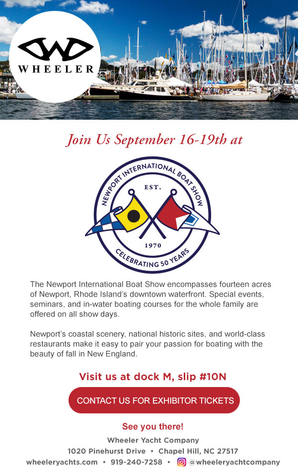 Newport International Boat Show, September 16-19